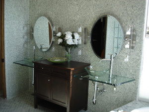 bathroom glass remodel Albuquerque