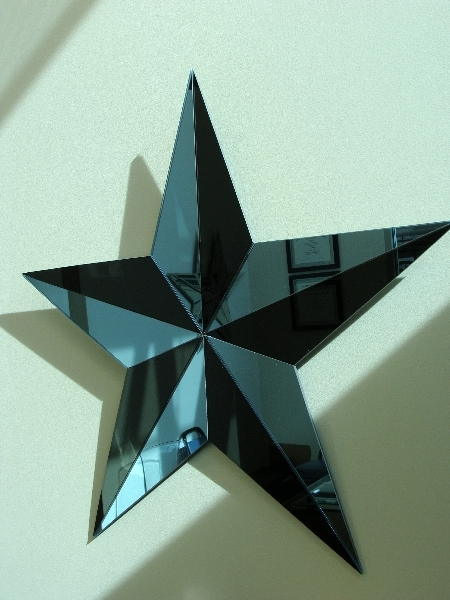 Black And Blue Star Mirror Dwight S Glass
