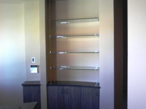 floating glass shelves - ABQ
