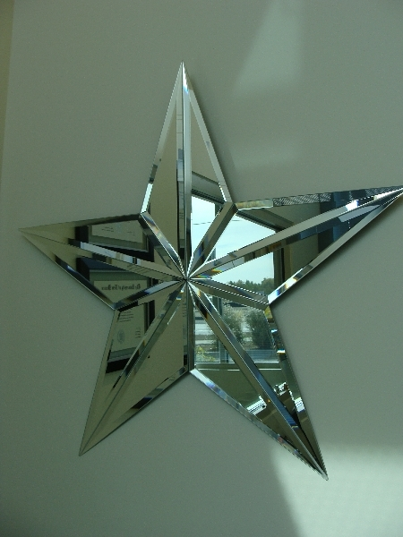 Clear Star Mirror Dwight S Glass