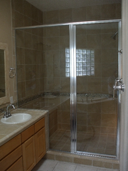 Custom Semi Frameless Shower Enclosure With Clear Glass